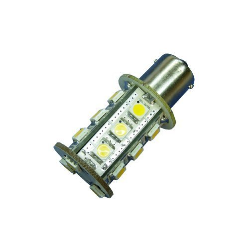 Ledwholesalers Miniature Bulb BA15S 1156 Base Single Contact Bayonet 8-30 Volt 18 x 5050 SMD LED 3.6w White, 1419WH ()