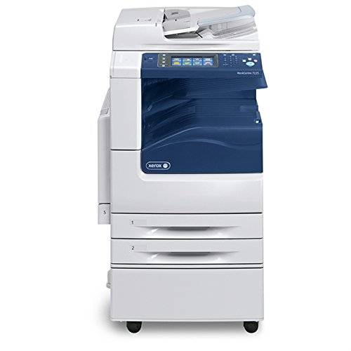 Xerox WorkCentre 7225 Tabloid-size Color Multifunction Printer - Copy, Print, Email, Scan, Internet Fax, Duplex, 2400 x 600 dpi, 25 ppm, 60K Duty Cycle - Finisher Fax