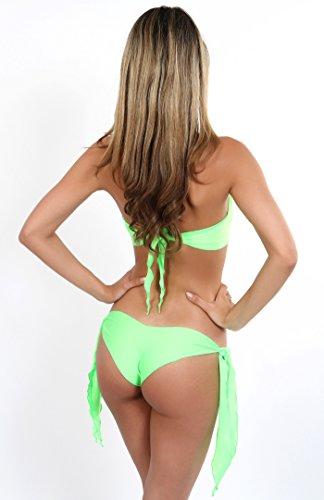 Bandeau Top + Hot Pants para encuadernar Neongrün
