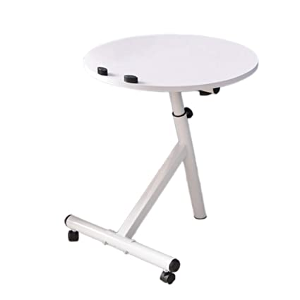 346020397e057 XIAOYAN End Table Sofa Side Table Height Adjustable 360° Flipped Round Table  4 Colors-