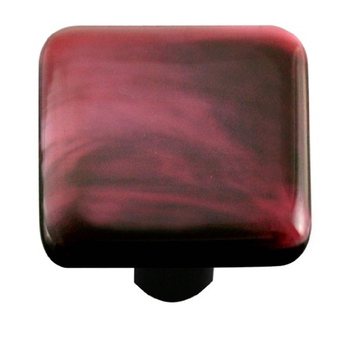 Aquila Art Glass HK2001-KB Swirl Collection Knob, Dark -