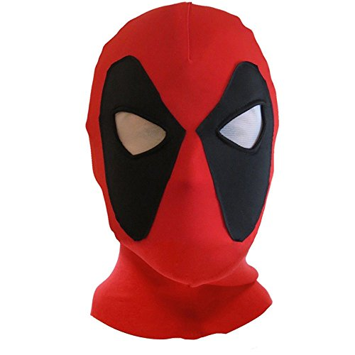 hongfei Deadpool Mask X-Men Mask Halloween Costume Hood Cosplay Headwear Full Face Mask]()