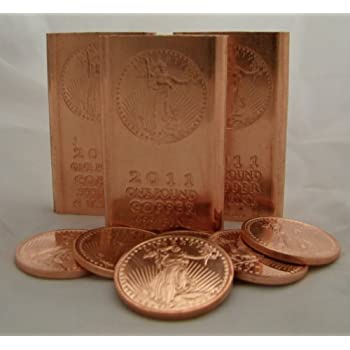 Amazon Com 1 Pound 999 Fine Copper Bullion Bar Great