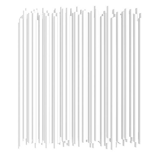 10 Inch Drinking Straws (250 Straws) (10 Inch x 0.28 Inch) (White) -