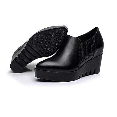 LvYuan-ggx Damen High Heels formale Schuhe Leder Leder Leder Frühling Herbst formale Schuhe Blockabsatz Schwarz 12 cm & mehr 404a13