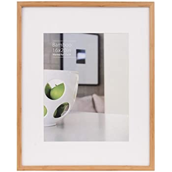 Amazon.com - CONTEMPORARY Bamboo Natural-stain matted 16x20/11x14 ...
