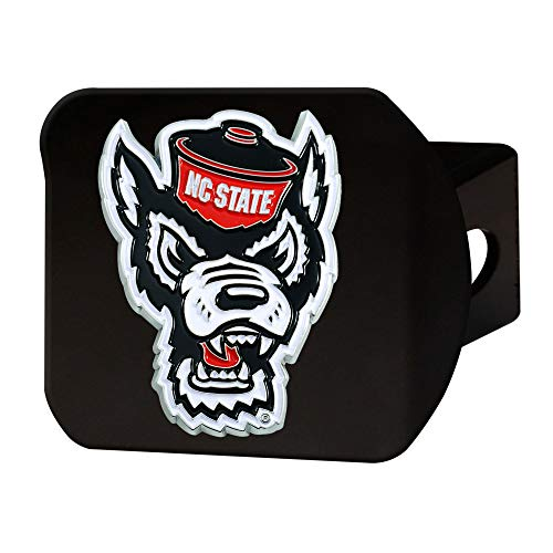 FANMATS NCAA North Carolina State Wolfpack Color Hitch - Blackcolor Hitch - Black, Team Colors, One - North Carolina Hitch Trailer State