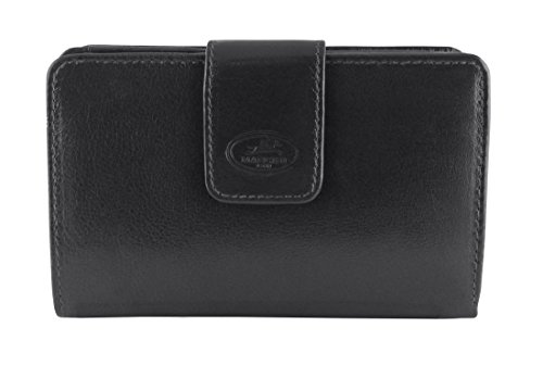 Inc Tanned Mancini RFID Wallet Grain Goods Secure Leather Vegetable Black Leather Top Clutch Men's Zqq0Epw