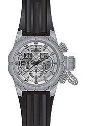 Invicta Men's Russian Diver Black Silicone Band Steel Case Quartz Silver-Tone Dial Analog Watch 21633