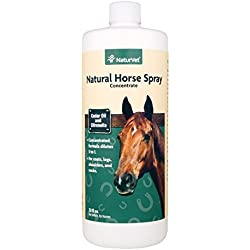 NaturVet Natural Horse Spray Concentrate for Horses, 32 oz Liquid, Made in USA