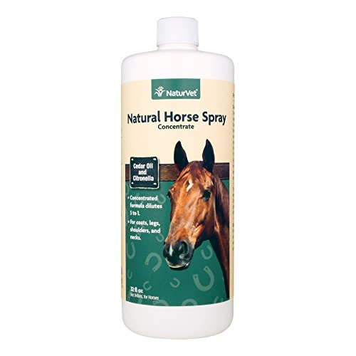 - NaturVet Natural Horse Spray Concentrate for Horses, 32 oz Liquid, Made in USA