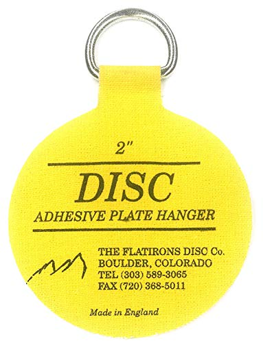 - Flatirons Disc Adhesive Plate Hangers, 2 Inch, 4 Pack