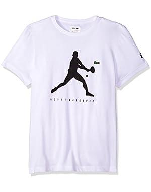 Men's Short Sleeve Jersey Extensible Novak Print T-Shirt, TH3882