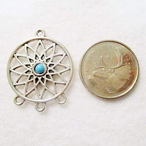34x27mm Dream Catcher Pendants Jewelry Making Supplies G1520 Pendants 4 Antique Silver Dream Catcher Pendants