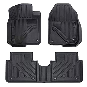 Image of Aiqiying All Weather Floor Mats for Honda CRV,Front & Rear 2 Rows Floor Liner Full Set Custom Fit for SUV (2017-2019 CRV) Floor Mats