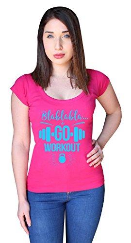 ZETAMARKT T-Shirt Donna Manica Corta Go Workout Fitness Gym Girl Shirt Personalizzata SHW.0068