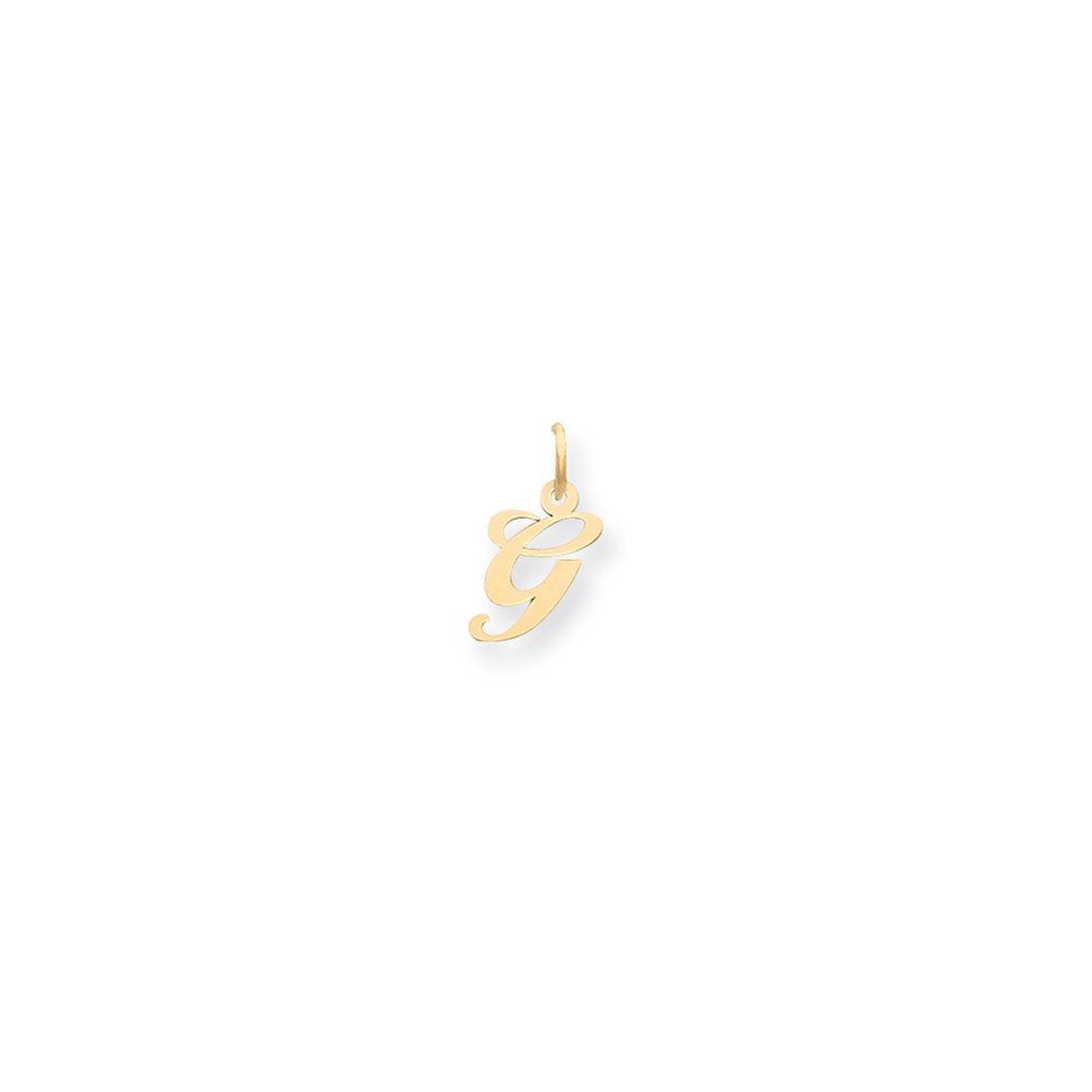 Mia Diamonds 14k Yellow Gold Small Fancy Script InitialG Charm