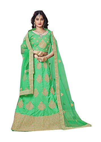 Indian Designer Partywear Ethnic Traditional Parrot Green Lehenga Choli by Indianfashion Store