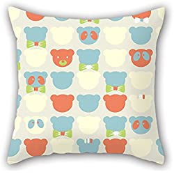 NICEPLW 18 X 18 Inches / 45 By 45 Cm Bear Cushion Cases,twin Sides Is Fit For Wife,divan,kids Girls,christmas,office,family