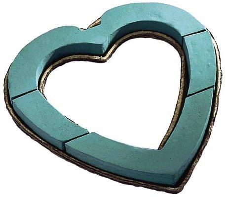 Oasis Floral Foam Mache Backed Open Heart Wreath 24 Inch Single