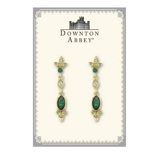 The Downton Abbey Collection Emerald Crystal Deco Drop Earrings 17504 -