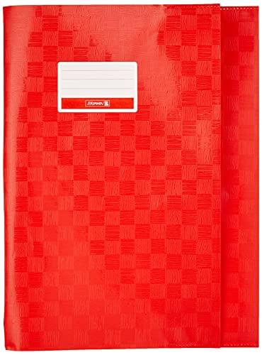 Brunnen Baier & Schneider - Sobrecubierta para libros y cuadernos tamaño A4, 21,5 x 30,7 cm, color rojo intenso