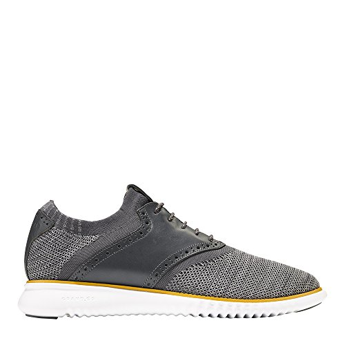 Cole Haan Men's 2.Zerogrand Packable Saddle-Knit Fashion Sneaker, Magnet/Sun/Op White, 10.5 M US