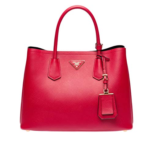 Prada Red Leather - Pepper-Prada Double Bag (Rose red)