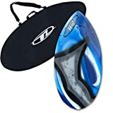 Skimboard Package for Beginners - Blue - 40.5'' Fiberglass Wave Zone Diamond Plus Board Bag and/or Traction Pad - for Riders up to 110 lbs (Board + Bag)