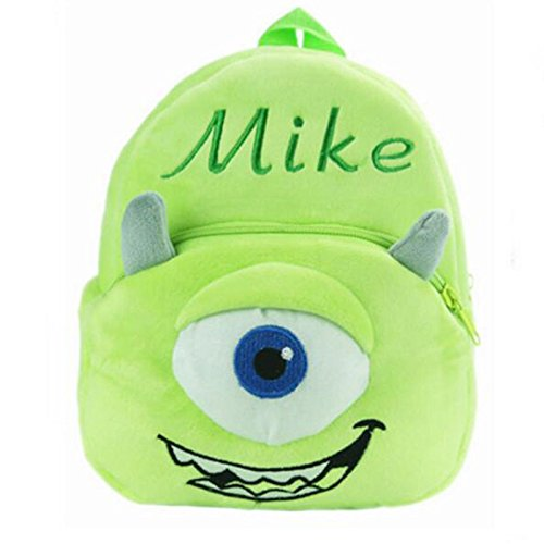 Backpack Schoolbag - Green Design Animal Cartoon Mini Backpack Schoolbag Shoulder Bag Suitable For Babies and Children - Perfect Birthday Gifts - For Kids (Green MIke)