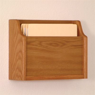 Wooden Mallet CHD15-1 Medium Oak Single Pocket Extra Deep Wall Mounted Chart Holder