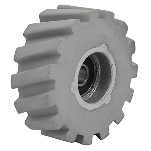 uxcell 65mmx8mmx25mm Bearing Steel Rubber Pinch Roller Edgebanding Wheel Pulley Gray by uxcell