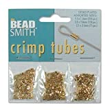 Beadsmith 3 Size Variety Pack Gold Plated Crimp Tube Beads (475 Total)