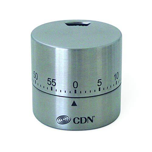 (CDN MTR-S Round Mechanical Timer, Silver)