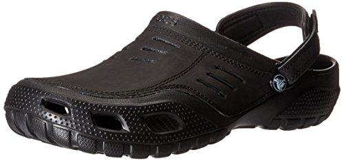 crocs Men\'s Yukon Sport Clog,Black/Black,7 M Us