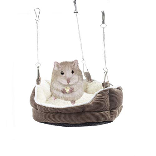 Emours Plush Habitat Sleeper Hanging Bed Sofa Hammock Winter Warmer for Small Animals Hamsters Guinea Pigs -