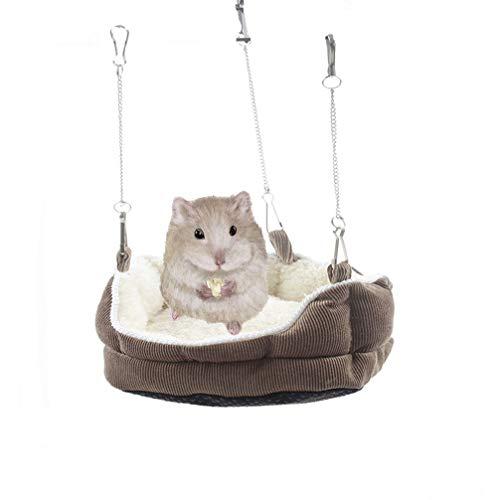 Emours Plush Habitat Sleeper Hanging Bed Sofa Hammock Winter Warmer for Small Animals Hamsters Guinea Pigs