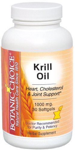 Botanic Choice Krill Oil doux Gels, 1000 mg, 30 Count