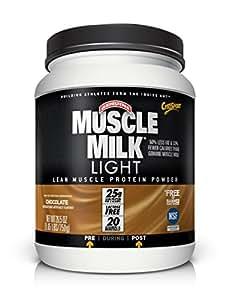 Muscle Milk Light Protein Powder, Chocolate, 25g Protein, 1.65 Pound