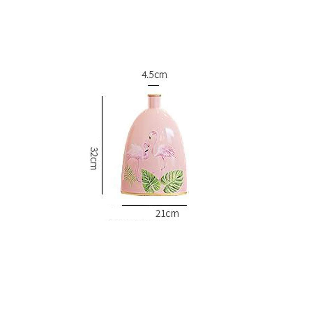 セラミック花瓶用花緑植物結婚式の植木鉢装飾ホームオフィスデスク花瓶花バスケットフロア花瓶 (色 : 赤, サイズ さいず : L l) B07R8YV4TF 赤 L l