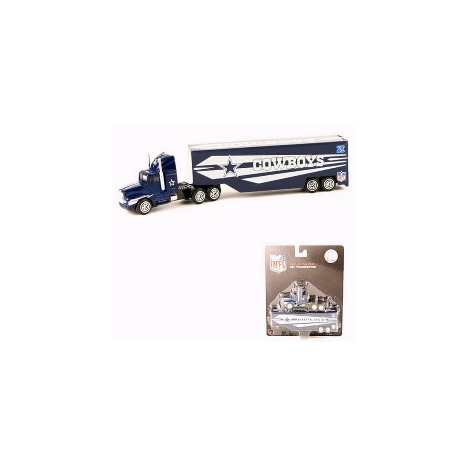 DALLAS COWBOYS NFL Semi Diecast Tractor Trailer Truck 1/87 Scale By PressPass Collectible