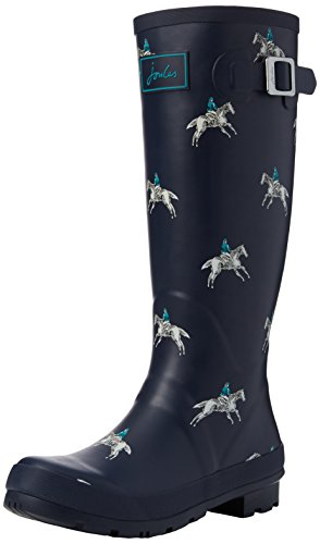Wellyprint Horse Rider Blue Navy French Joules Boots Wellington Women's wAHCx5O0q8