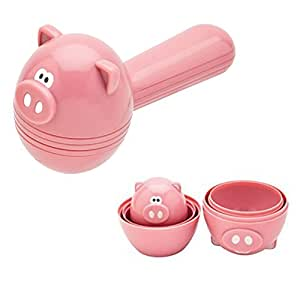 Joie Oink Oink 5 pc Measuring Spoon Set and 6 pc Measuring Cup Set by MSC International