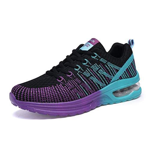 Zapatos de Las Mujeres de la Onda Transpirable Zapatillas Deportivas Morado A