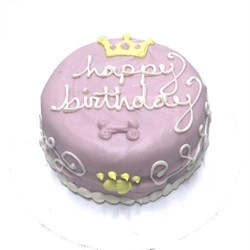 Gourmet Dog Cake - Bubba Rose Pink Princess Dog Birthday Cake