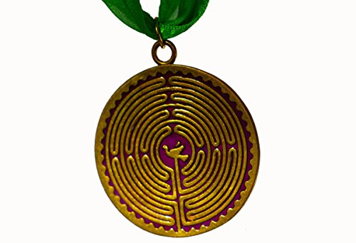 Chartres House (Chartres Labyrinth Purple Enamel Holiday Ornament with Ribbon)