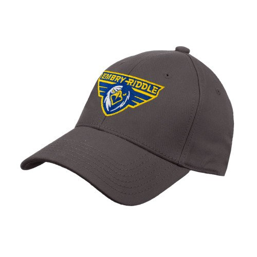 - Embry Riddle Prescott Charcoal Heavyweight Twill Pro Style Hat 'Athletic Mark'
