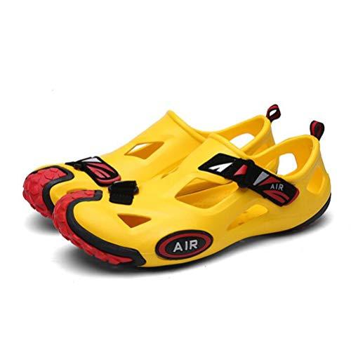 Ywnc Agua Ocasionales Zapatillas Los Antideslizante Fuga Hombres  Transpirable Playa De Yellow Jardín Agujero Zapatos Sandalias rTwpxr 56ad3c1c24aa1