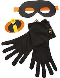 Gear Set, 3-Piece (Mask/Gloves/Emblem), Black, Ages: 4-8