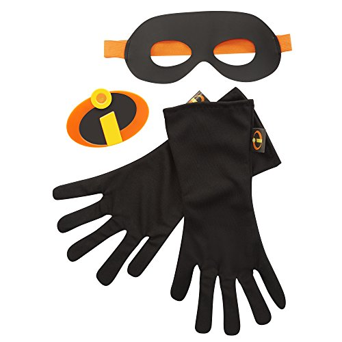 (The Incredibles 2 Gear Set, 3-Piece (Mask/Gloves/Emblem), Black, Ages:)